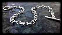 T080 Cable Link Bracelet with Tee Bar